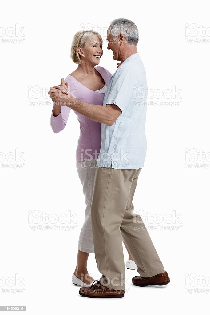 Mature couple dancing royalty-free stock photo