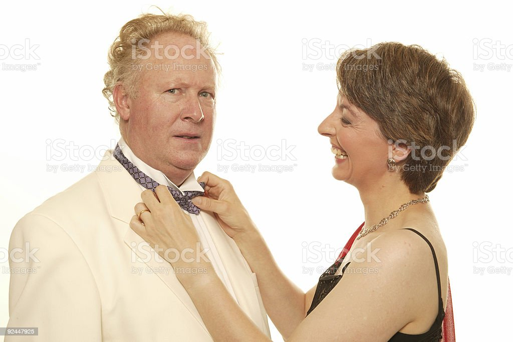mature couple dressed to go to formal dinner royalty-free stock photo