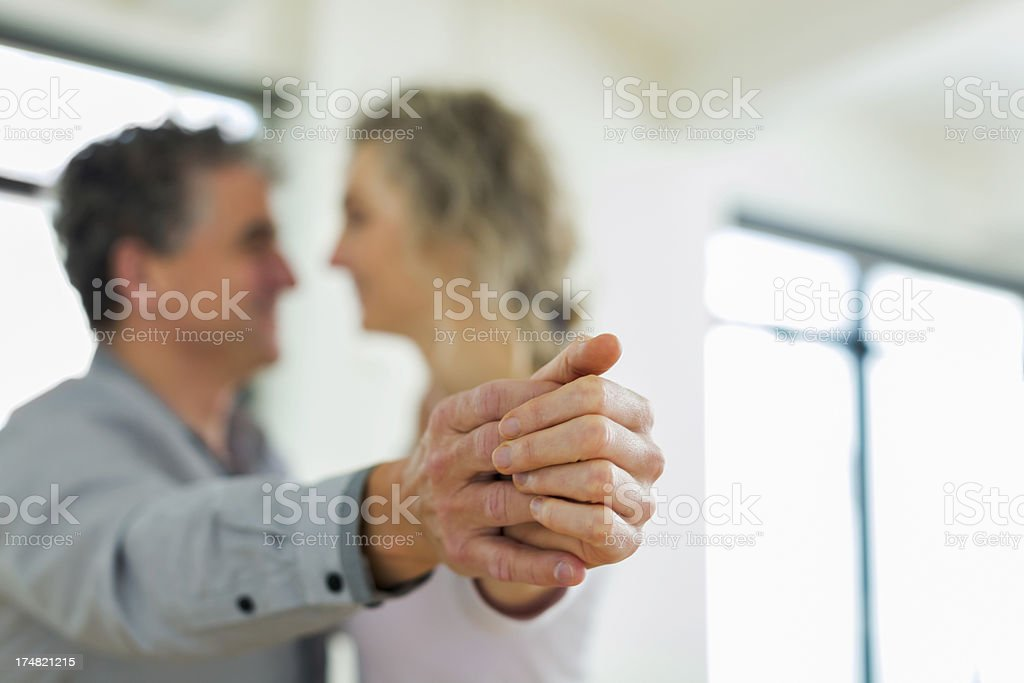 Mature Couple Falling in Love royalty-free stock photo