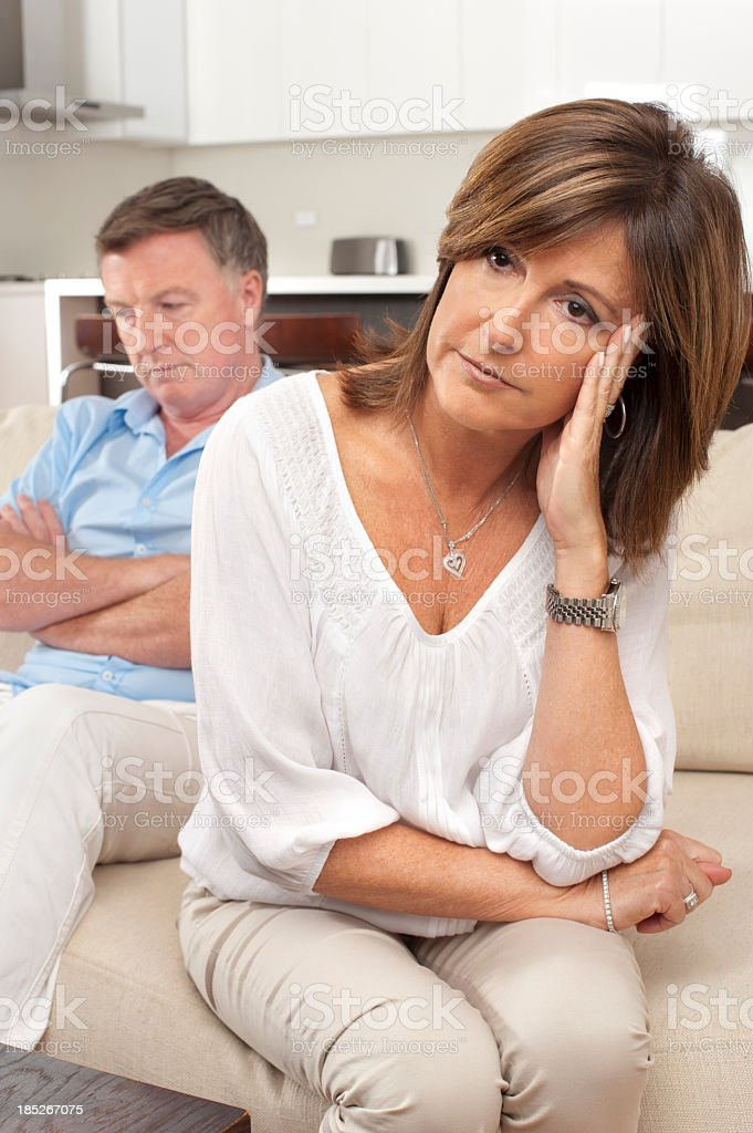 Mature couple fighting royalty-free stock photo