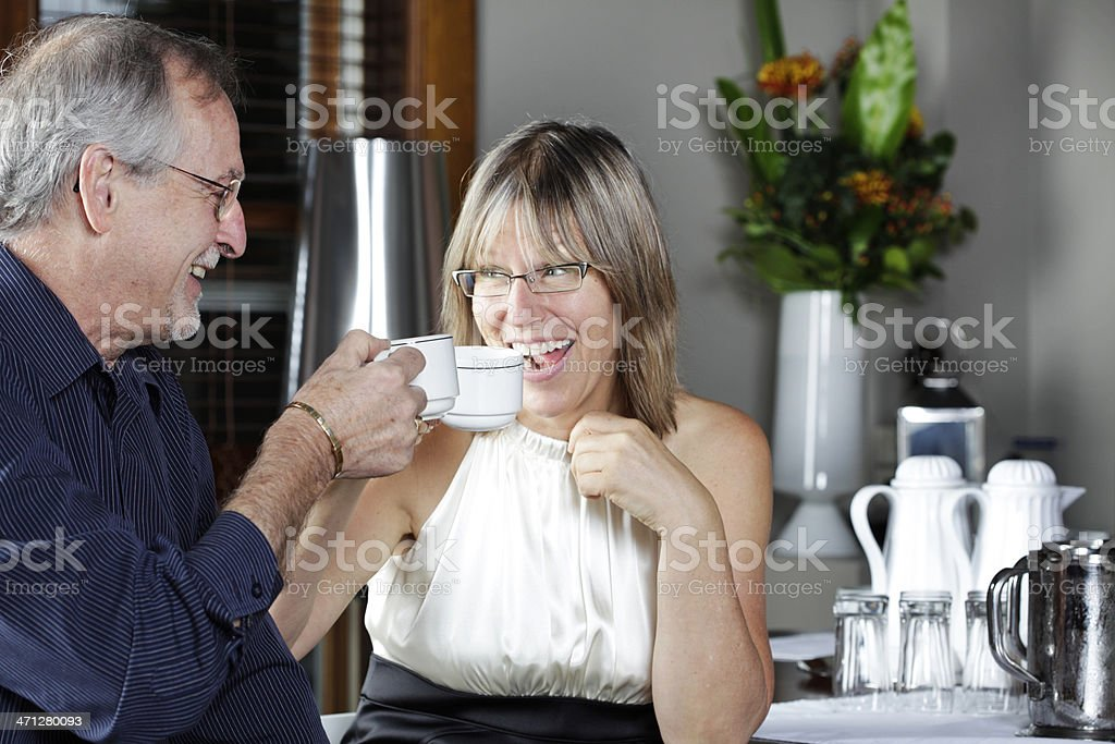 Mature Couple Having Coffee royalty-free stock photo