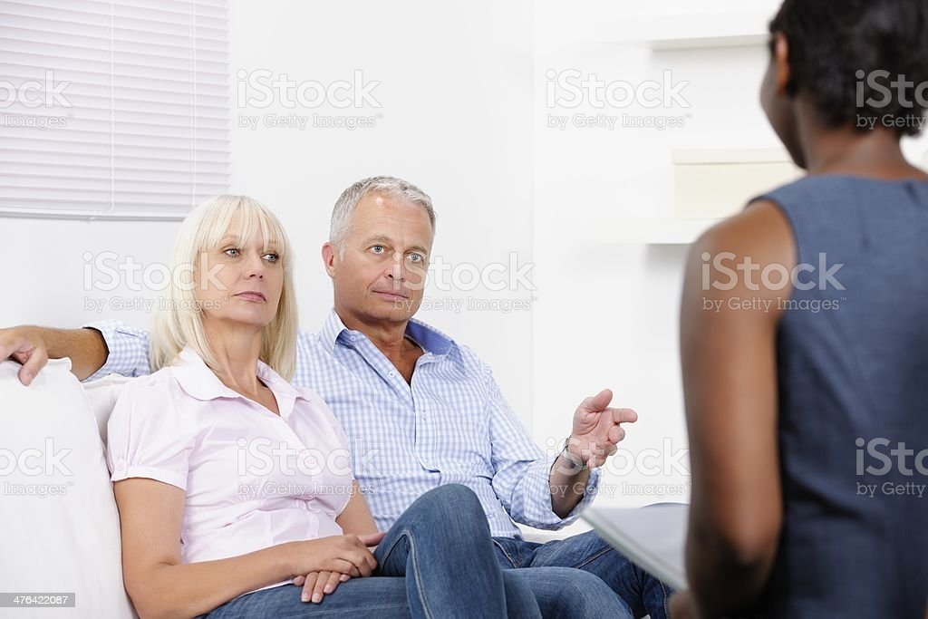 Mature Couple Having Counselling royalty-free stock photo