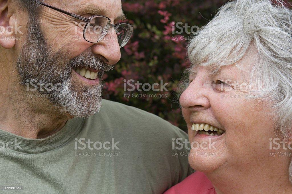 Mature couple having fun royalty-free stock photo