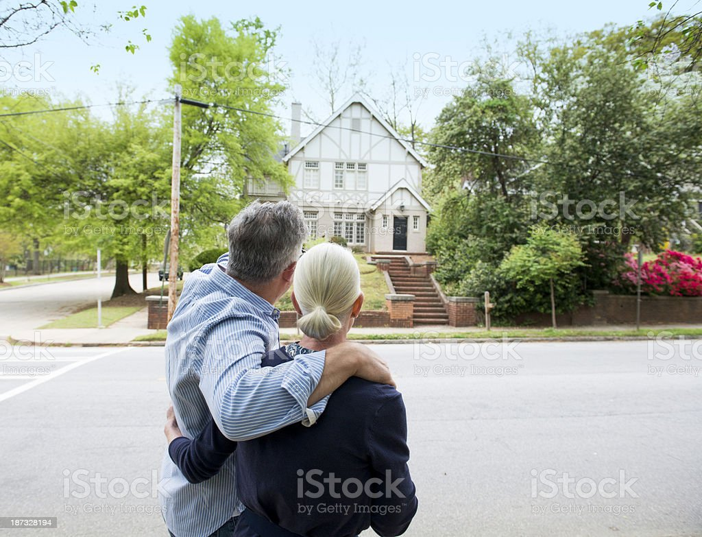 Mature Couple House Hunting royalty-free stock photo