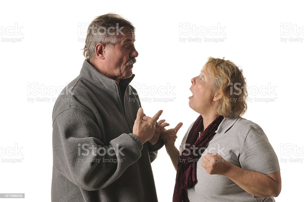 mature couple in arguments royalty-free stock photo