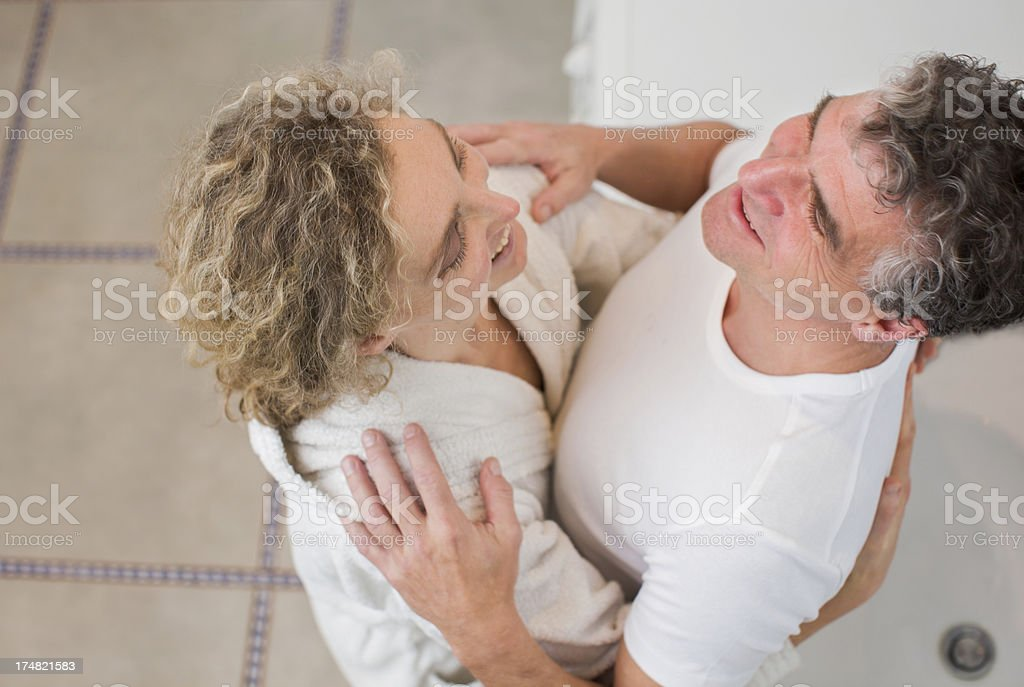 Mature couple in Bathroom royalty-free stock photo