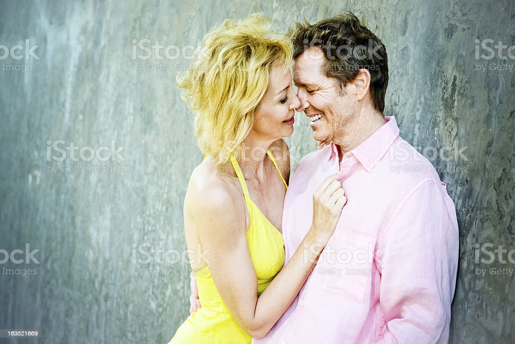 Mature Couple In Love Portrait royalty-free stock photo