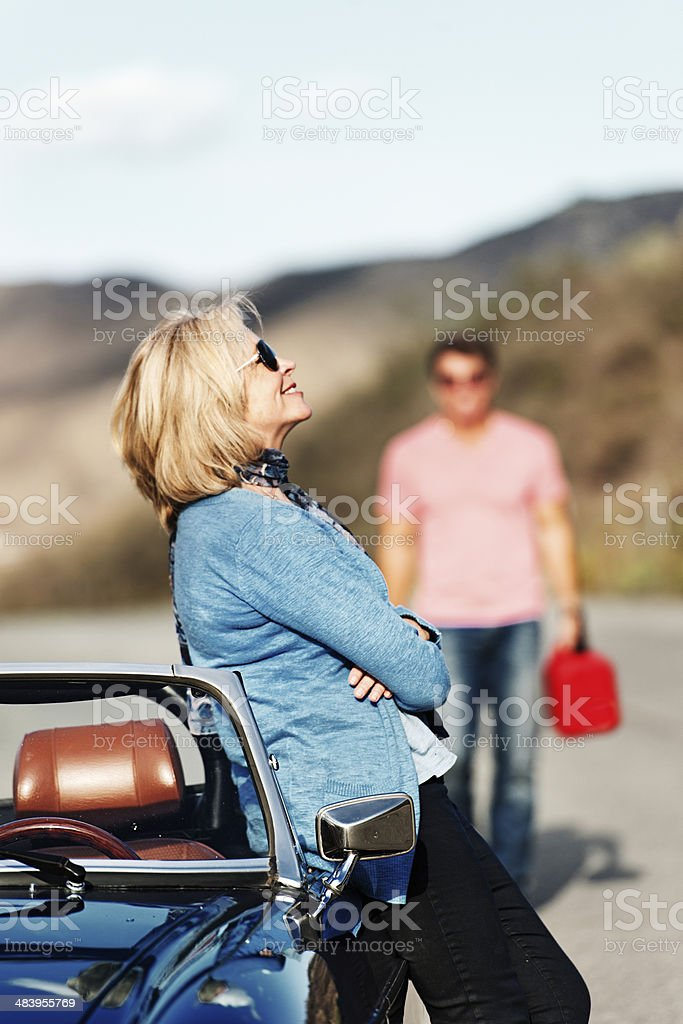 Mature Couple on a Roadtrip royalty-free stock photo