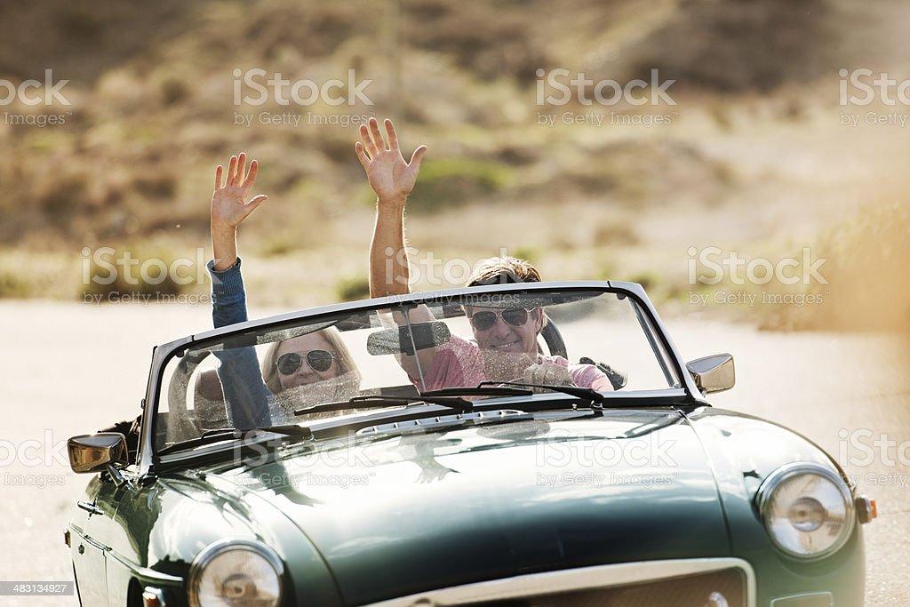 Mature Couple on Roadtrip royalty-free stock photo