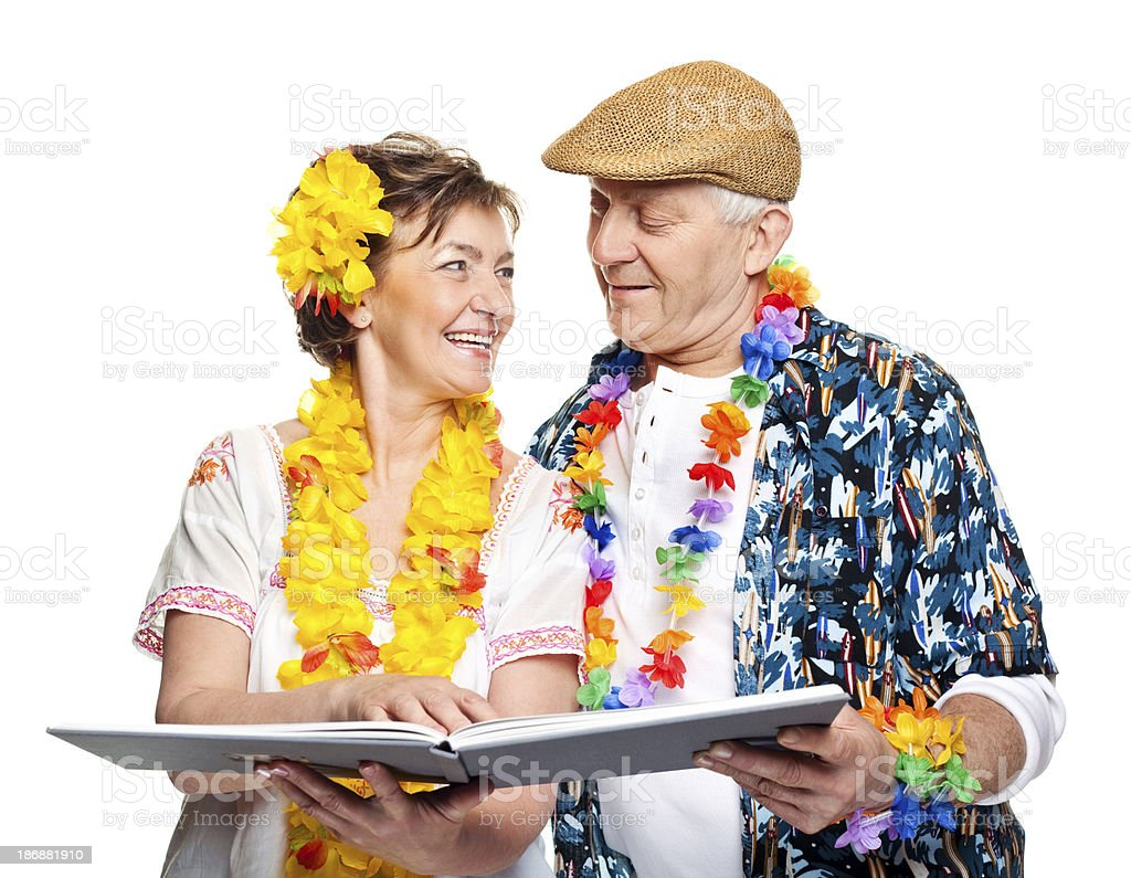 Mature couple on tropical vacation royalty-free stock photo