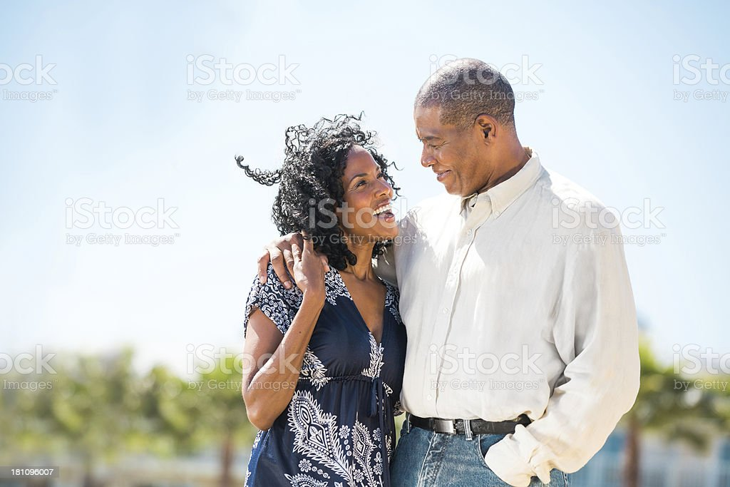Mature Couple on Vacation stock photo
