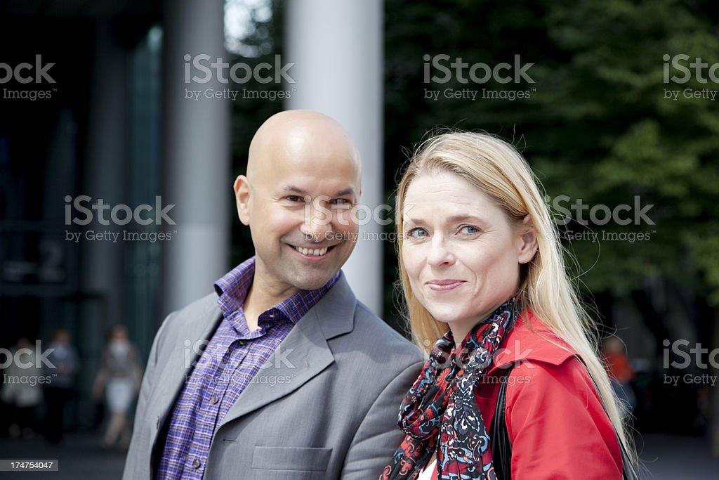 mature couple portrait royalty-free stock photo