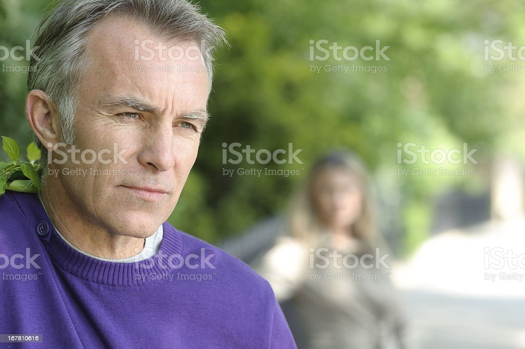 Mature Couple Relationship Difficulty royalty-free stock photo