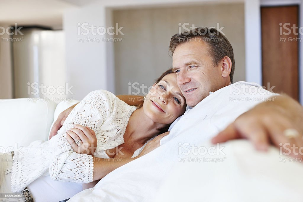 Mature couple relaxing royalty-free stock photo