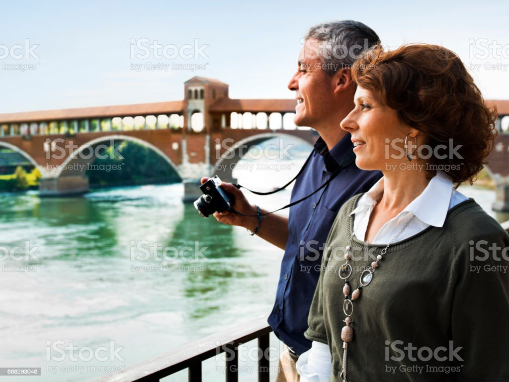 Mature Couple Sightseeing stock photo