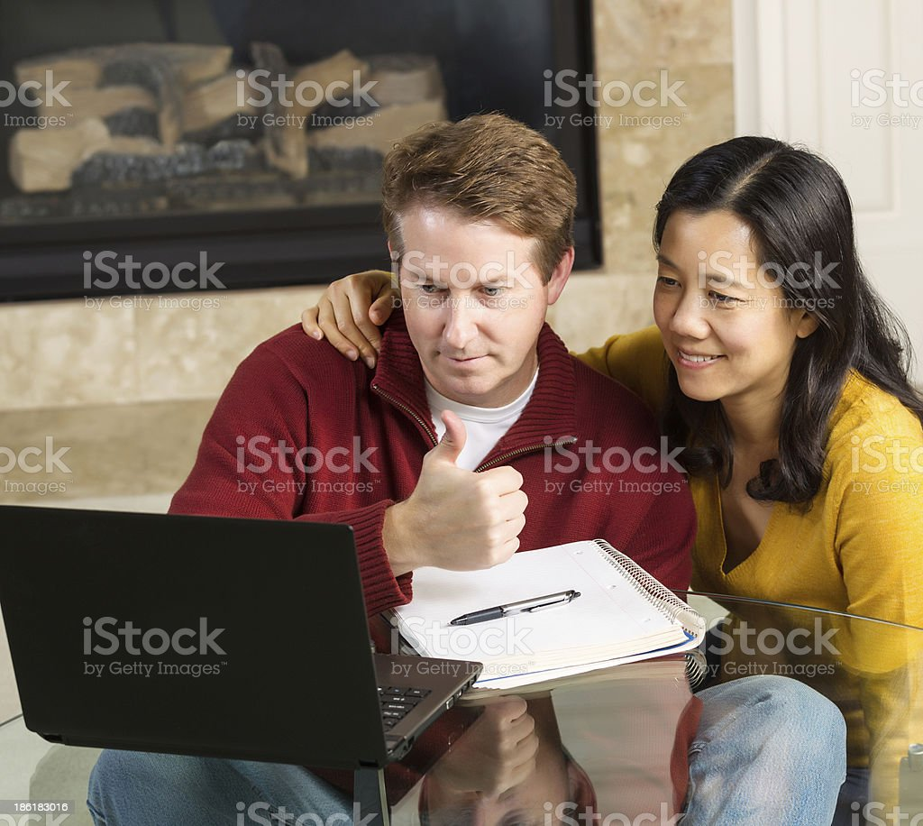Mature Couple very postive about Work Results royalty-free stock photo