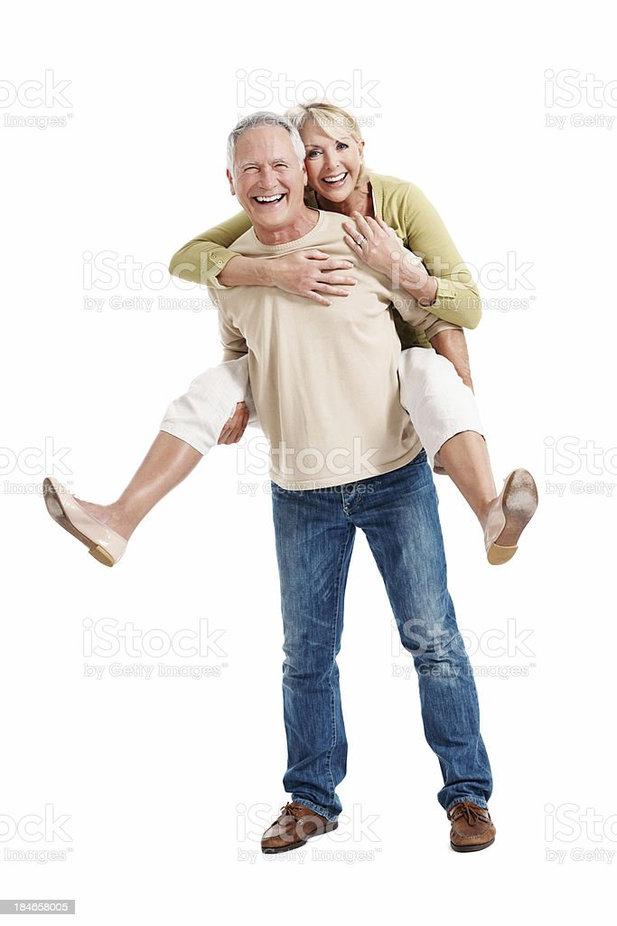 Mature couple young at heart royalty-free stock photo
