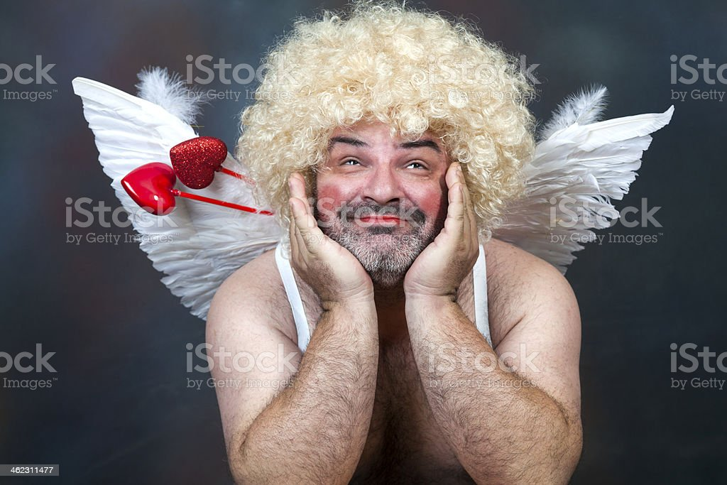 Mature Cupid stock photo