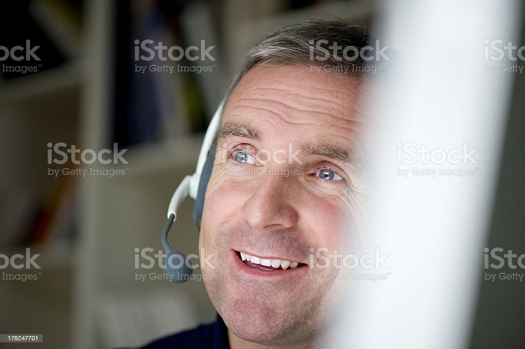 mature customer service royalty-free stock photo