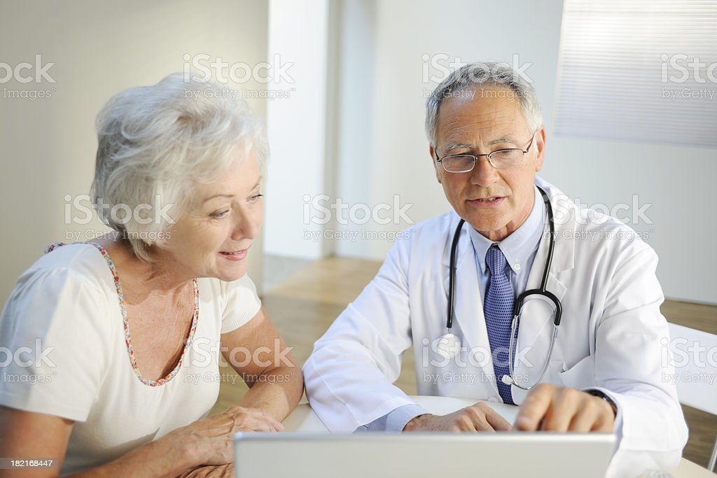 Mature Doctor and Patient royalty-free stock photo