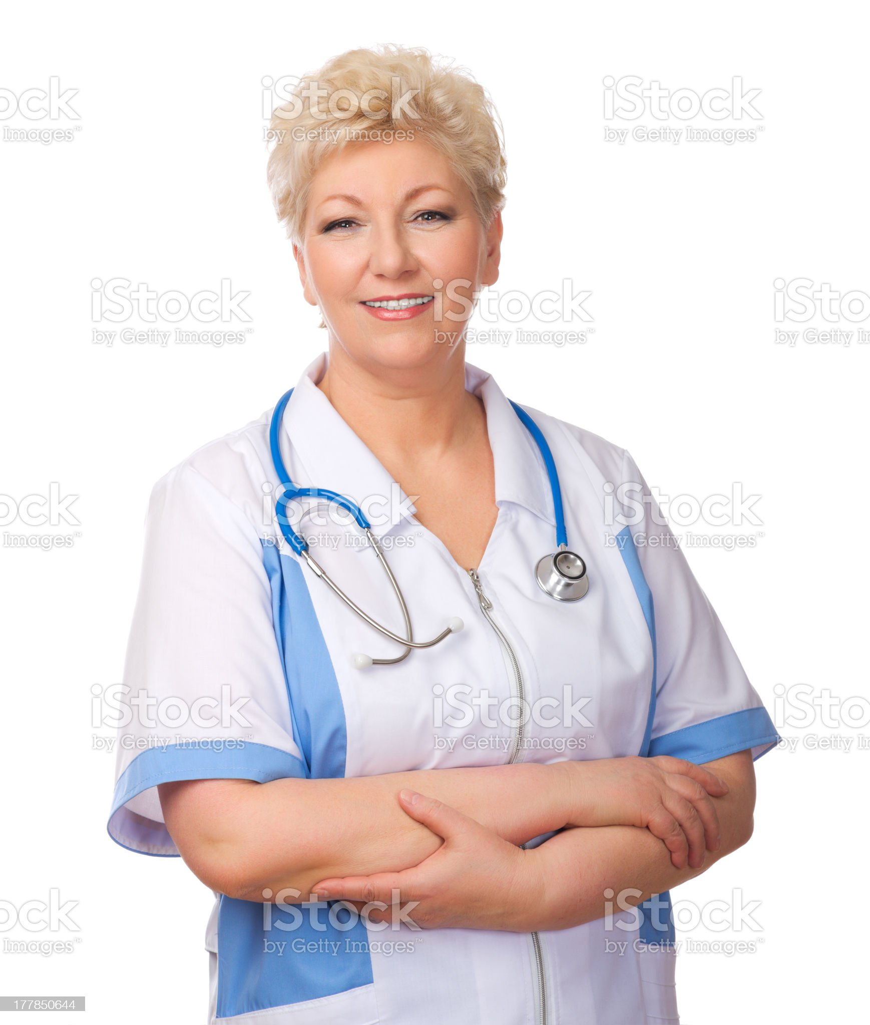 Mature doctor isolated royalty-free stock photo