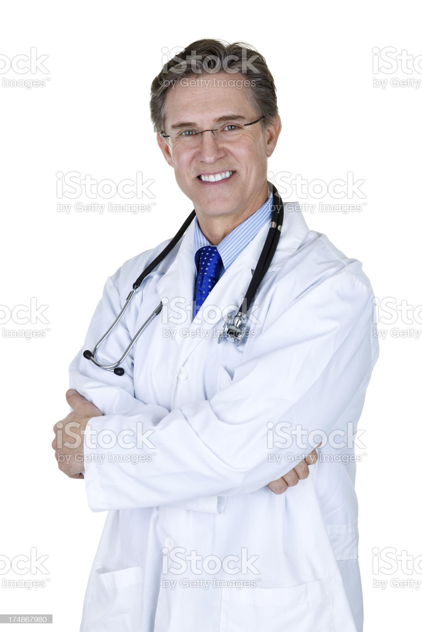 Mature Doctor royalty-free stock photo