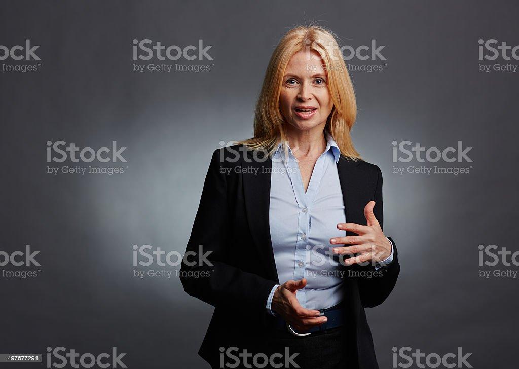 Mature employee stock photo
