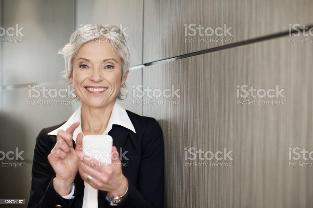 Mature executive business woman royalty-free stock photo