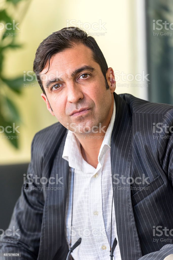 Mature Executive stock photo