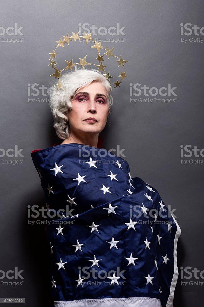Mature fashion woman stock photo