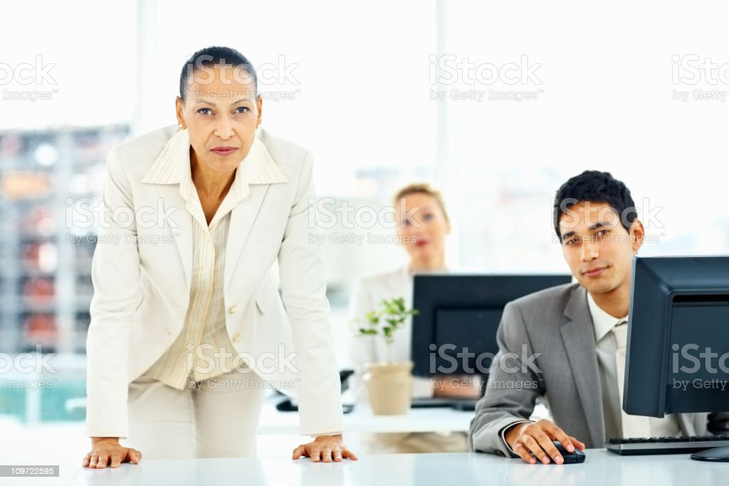 Mature female business executive at work royalty-free stock photo