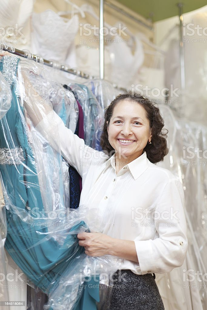 mature female buyer royalty-free stock photo