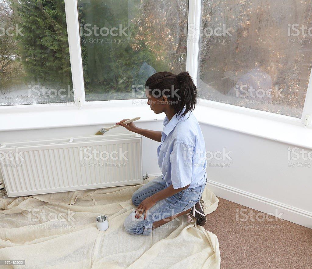 mature female decorating royalty-free stock photo