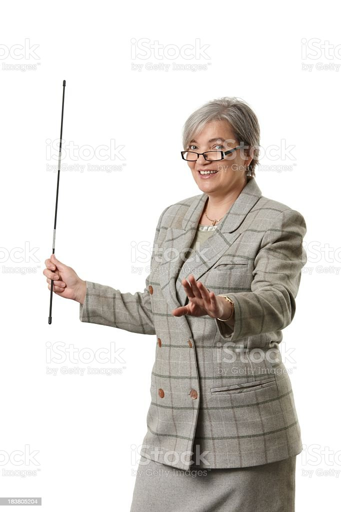 Mature female teacher stock photo