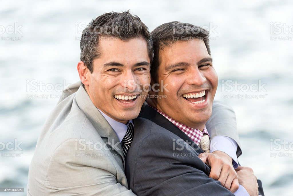 Mature Gay Businessmen stock photo