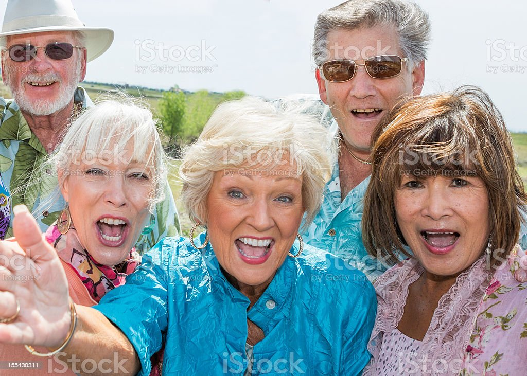 Mature Group stock photo