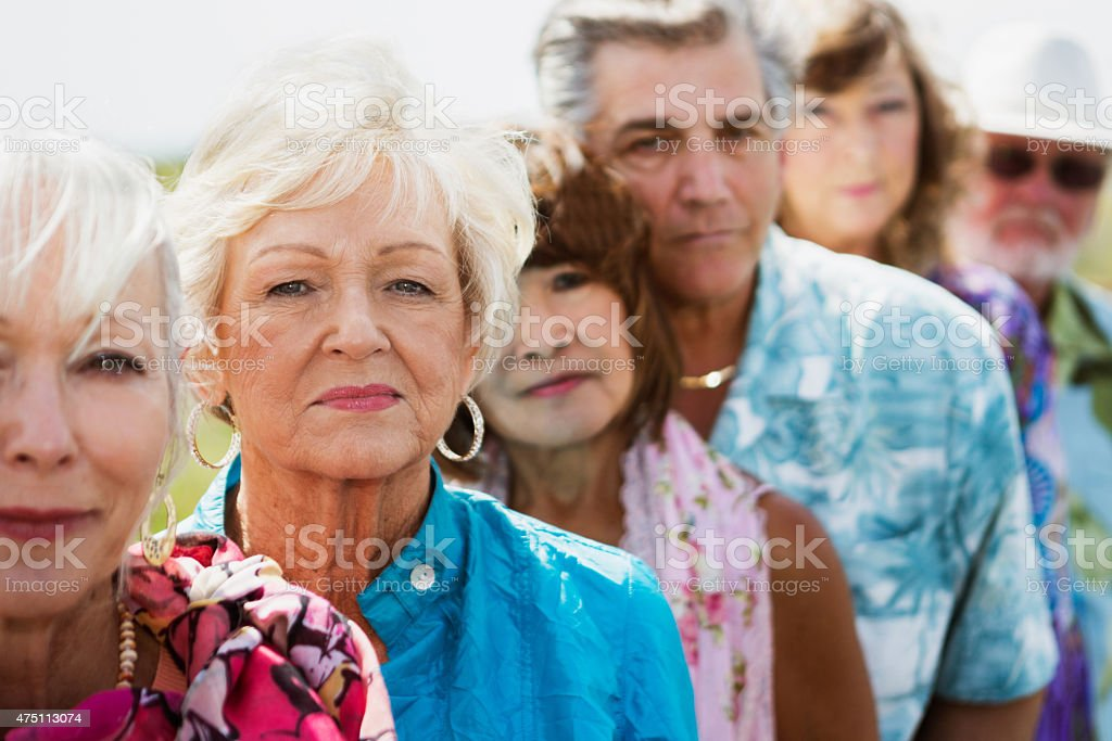 Mature Group stock photo
