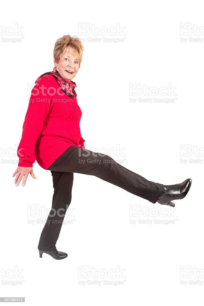 mature happy woman stock photo