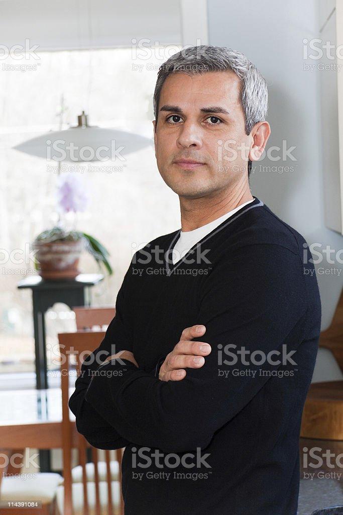 Mature Hispanic Man stock photo