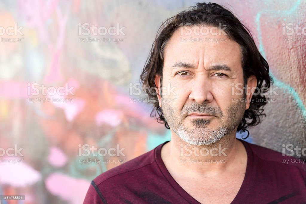 Mature hispanic man stock photo