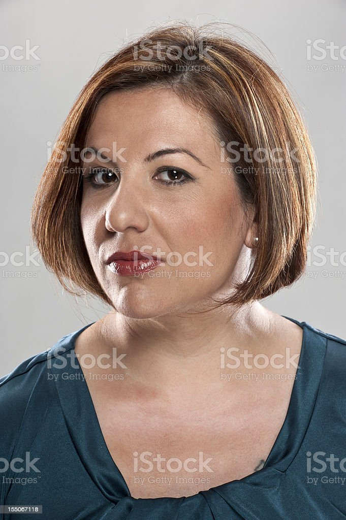 Mature Hispanic Woman (real people) royalty-free stock photo