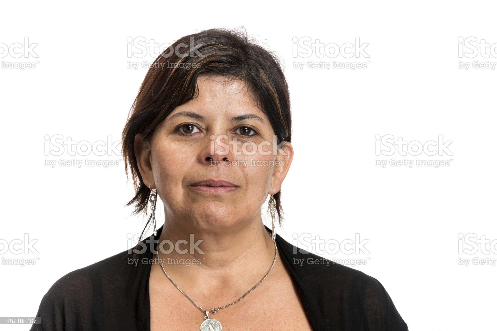 Mature hispanic woman royalty-free stock photo