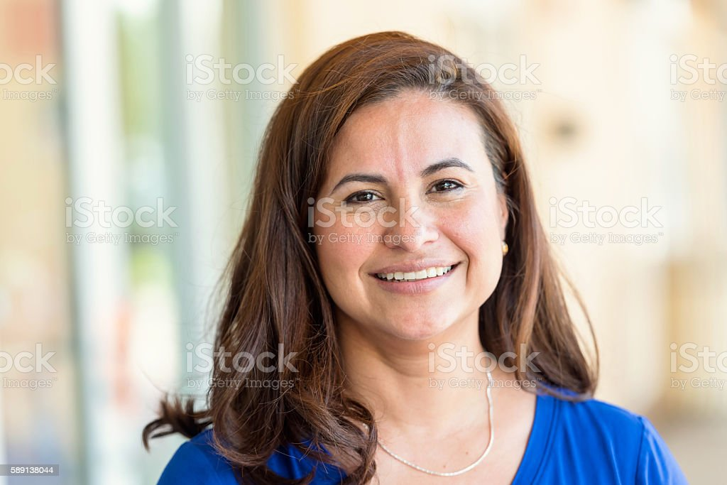 Mature Hispanic Woman stock photo