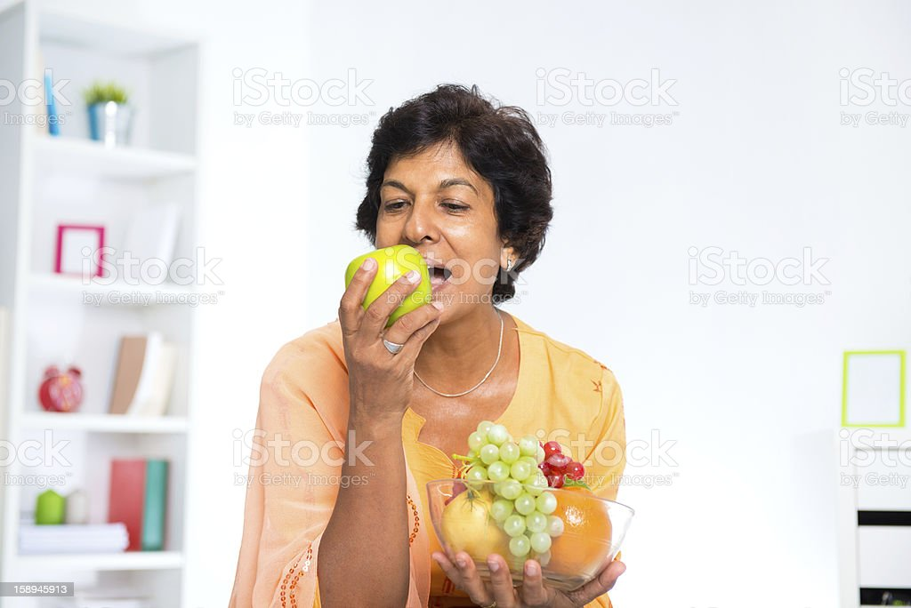 Mature Indian woman royalty-free stock photo