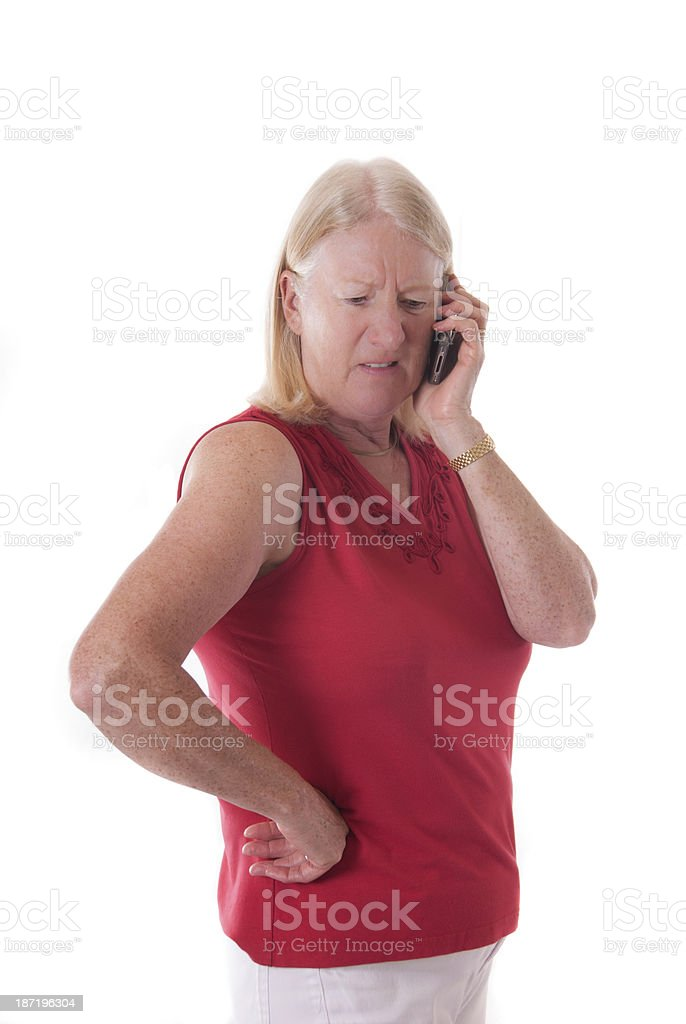 Mature Lady talking on Mobile Phone royalty-free stock photo