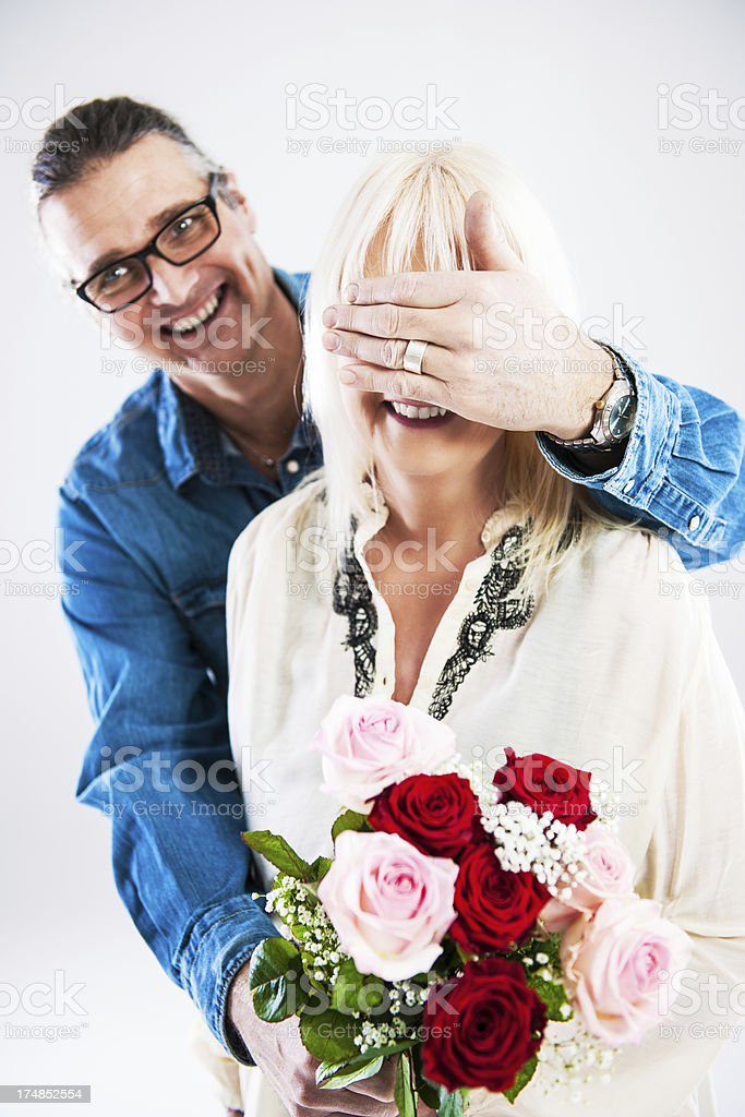 Mature love royalty-free stock photo