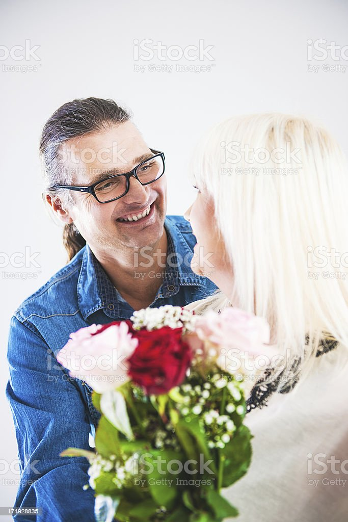 Mature love royalty-free stock photo