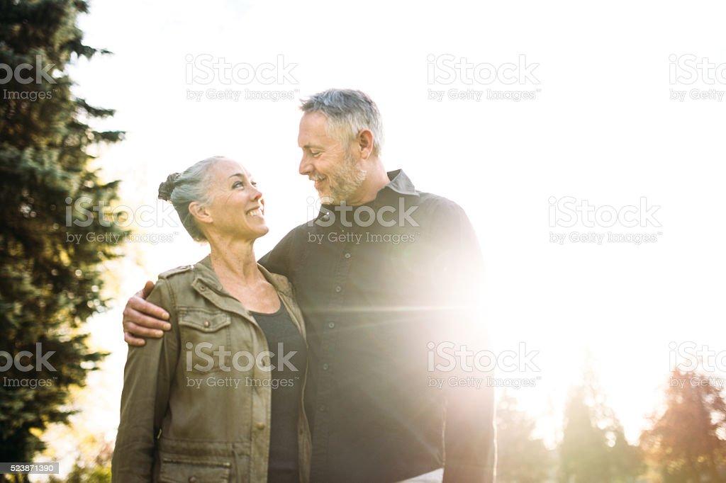 Mature Loving Couple stock photo