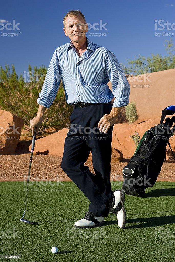 Mature Male Golfer Portrait stock photo