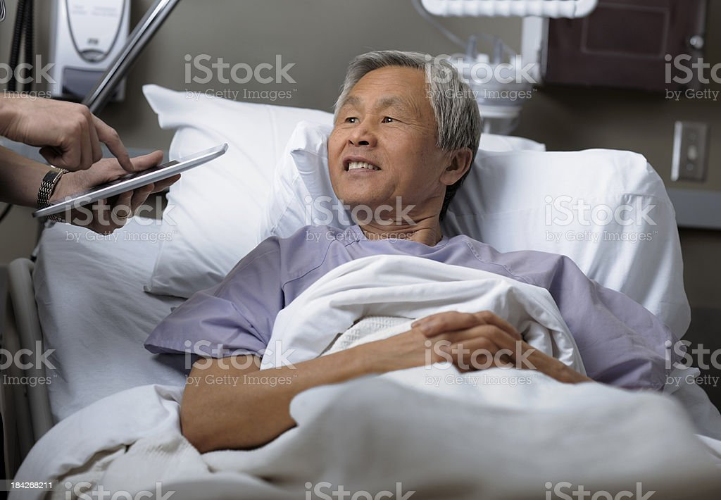Mature male patient in hospital. royalty-free stock photo